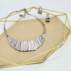 Sculpted Metal Statement Set - Necklace +Earrings